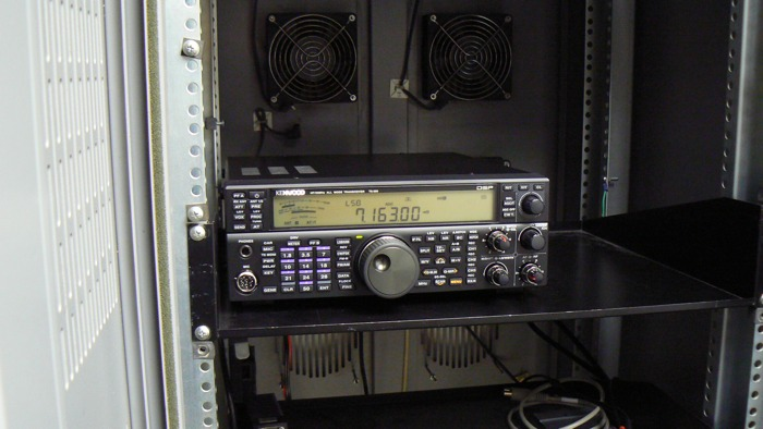 TS-590 in rack.